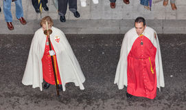 Penitents on Holy Week Royalty Free Stock Photo