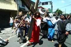 Penitents reenacting the Passion of Christ. Royalty Free Stock Photography