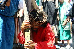 Penitents reenacting the Passion of Christ. Stock Image