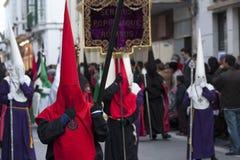 Penitents rouges Images libres de droits