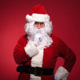 Penive look of santa claus Stock Photos