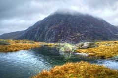 Penjaren Ole Wen Snowdonia National Park Royalty-vrije Stock Foto