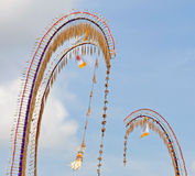 Penjor Balinese celebration of Galungan Royalty Free Stock Images