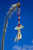 Penjor pole decoration for Galungan celebration, Bali Island, Indonesia Royalty Free Stock Photo