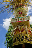 Penjor pole decoration for Galungan celebration, Bali Island, Indonesia Royalty Free Stock Photos
