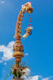 Penjor pole for Galungan celebration, Bali Island, Indonesia Royalty Free Stock Image