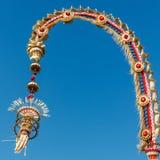 Penjor słup dla Galungan świętowania, Bali wyspa, Indonezja obraz royalty free