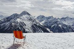 Penkenjoch mountain view in Austria, 2015 Royalty Free Stock Photo