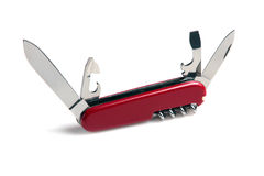 Penknife. Isolated on a white background Royalty Free Stock Images