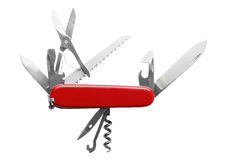 Penknife. Isolated on white background Royalty Free Stock Image