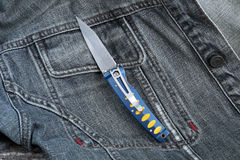 Penknife with a blade from Damask Stock Photos