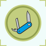 Penknife color icons set Stock Photography