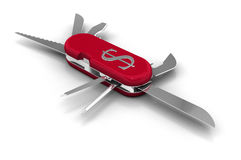 Penknife with Dollar Symbol Stock Photos