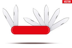Penknife with many blades Stock Image