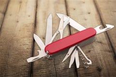 Penknife. Resourceful Multi-Tasking functional Army  Saw Stock Image