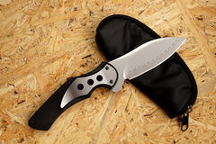 Penknife With A Blade From Damask Steel Royalty Free Stock Image