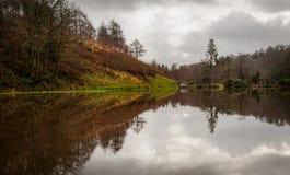 Penllergare Wierzch jezioro Fotografia Stock