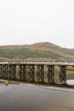 Penmaenpool toll bridge, evening Royalty Free Stock Images