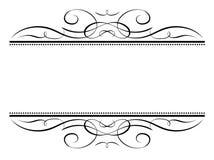 penmanship πλαισίων καλλιγραφία&sigma Στοκ Εικόνες