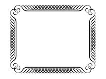 Penmanship decorative frame Royalty Free Stock Image