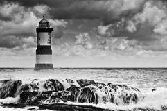 Penmon Leuchtturm Stockfotografie