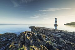 Penmon Lighthouse in Morning Light royalty free stock images