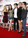 Penn Badgley, Emma Stone, Patricia Clarkson e Aly Michalka fotografia stock