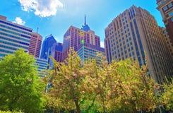 Penn Center and skyline in Philadelphia PA Royalty Free Stock Image