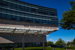 Penn State Hershey Cancer Institute sign on the building Stock Photography