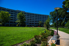 Penn State Hershey Medical Center Walkway. Hershey, PA - August 22, 2016: Penn State Hershey Medical Center is a large complex that includes a Children`s Royalty Free Stock Photos