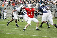 Penn State quarterback Matthew McGloin. Drops back to pass the football at Beaver Stadium April 24, 2010 in University Park, PA Stock Photography