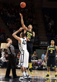 Penn State's Ross Travis and Michigan's Jordan Morgan Stock Image