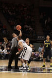 Penn State's Ross Travis and Michigan's Jordan Morgan jump Stock Photos