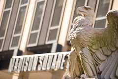 The Penn Station  Eagle. Eagle sculpture from the old Penn Station by the Madison Square Garden complex, NYC Stock Photo