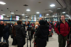 New York City Penn Station. People waiting for their trains at Pennsylvania Station, in New York City Stock Images