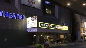 Penn and Teller visit New York stock video