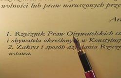 Penna & testo Fotografie Stock Libere da Diritti