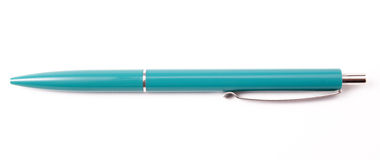 Penna blu Fotografia Stock Libera da Diritti