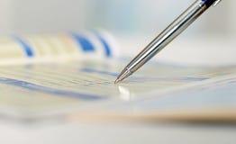 Penna che mostra schema Immagine Stock