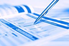 Penna che mostra schema Immagine Stock Libera da Diritti