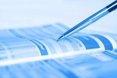 Penna che mostra schema Immagini Stock Libere da Diritti