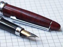 Penna con il taccuino Fotografia Stock
