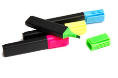 Penna dell'evidenziatore dell'indicatore Fotografia Stock