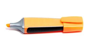 Penna dell'evidenziatore dell'indicatore isolata su fondo bianco Immagine Stock Libera da Diritti
