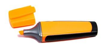 Penna dell'evidenziatore dell'indicatore isolata su fondo bianco Fotografia Stock Libera da Diritti