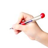 Penna dell'inchiostro della holding della mano Fotografia Stock Libera da Diritti
