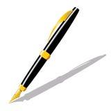 Penna dell'oro Fotografia Stock Libera da Diritti