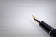 Penna dell'oro Immagine Stock Libera da Diritti