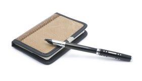 Penna della penna e del taccuino Fotografia Stock Libera da Diritti
