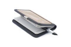 Penna della penna e del taccuino Immagini Stock